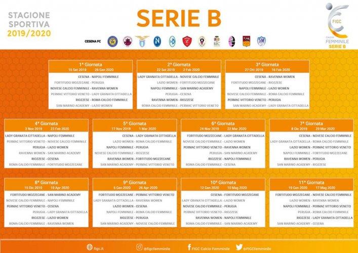 Calendario Di Serie B.Femminile Compilato Il Calendario Di Serie B