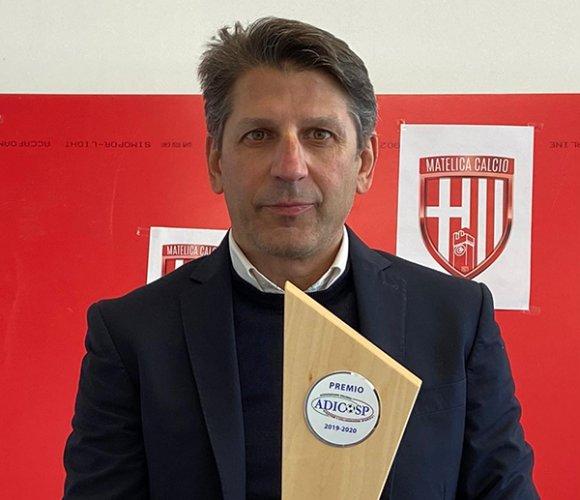 Francesco Micciola (Matelica) premiato come migliore Direttore Sportivo Dilettanti 2019/20 dall'ADICOSP
