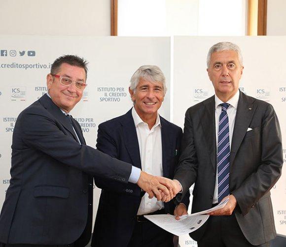 Siglata a Roma una nuova intesa fra LND, Credito Sportivo e Fidicom per lo sviluppo del calcio dilettantistico