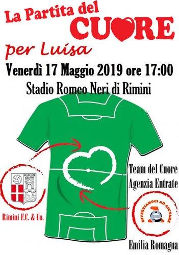 """Venerdi' al """"Romeo Neri"""" la sfida benefica dedicata a Luisa"""