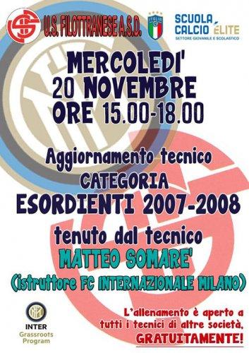 Incontro a Filottrano con i tecnici giovanili dell'Inter