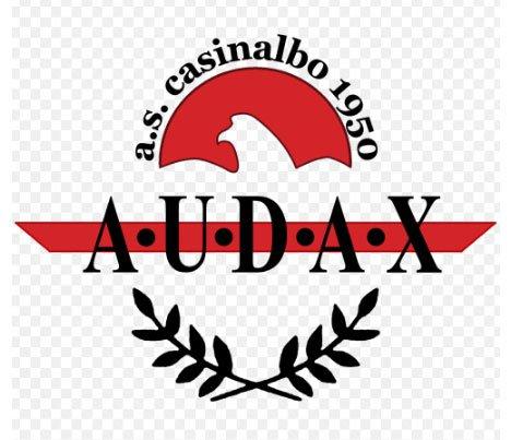 Rosa e staff tecnico e societario dell'Audax Casinalbo