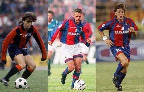Mancini, Baggio e Signori, vecchie glorie del Bologna