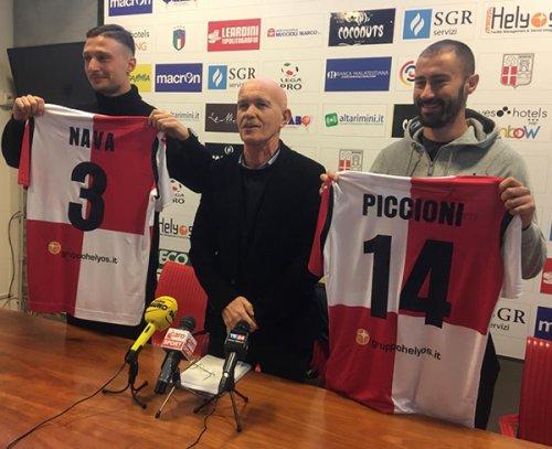 Il Rimini FC presenta Piccioni e Nava