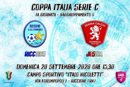 Esordio amaro in Coppa Italia per la femminile Riccione