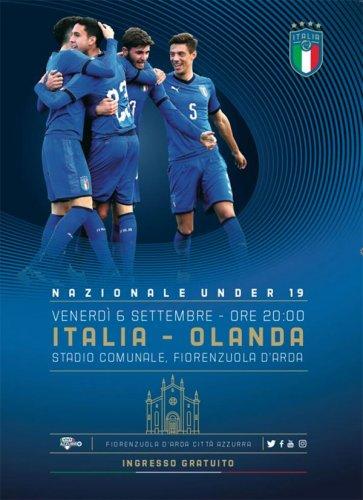 Venerdì 6 settembre 2019 Italia vs Olanda under 19