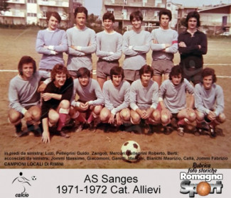 FOTO STORICHE - Allievi Sanges 1971-72