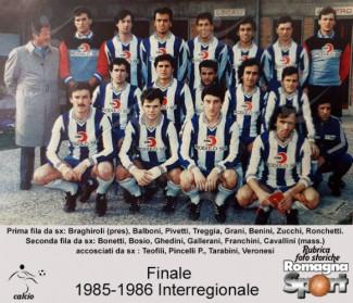 FOTO STORICHE - Finale 1985-86