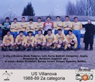 FOTO STORICHE - US Villanova 1988-89