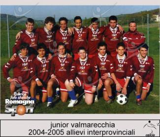 FOTO STORICHE -  Allievi interprovinciali Junior Valmarecchia 2004-05