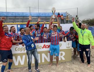 Beach soccer: il Catania conquista la coppa italia AON