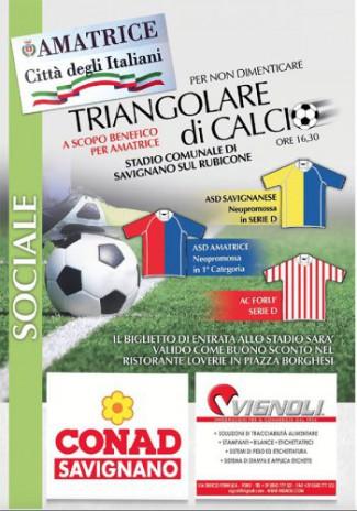 Triangolare a scopo benefico tra Savignanese, Forlì ed Amatrice