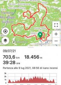 Ivano Incensi conclude per la terza volta nella sua carriera la Ultracycling Dolomitica
