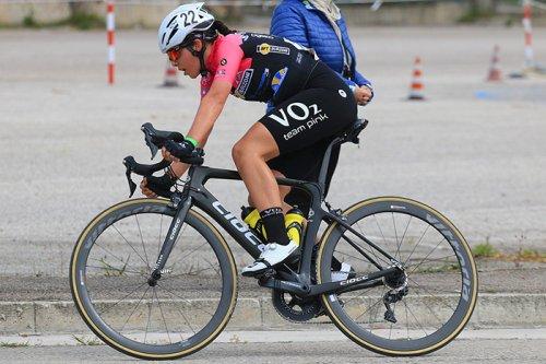 Chiara Sacchi (VO2 Team Pink) sul podio femminile Juniores a Civitanova