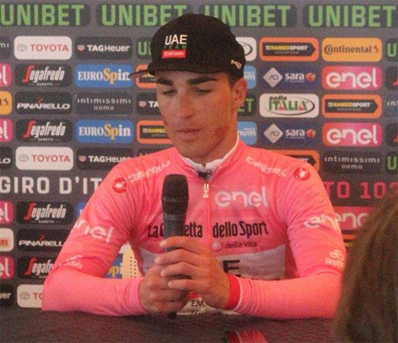 102° Giro d'italia - Intervista alla maglia rosa Valerio Conti