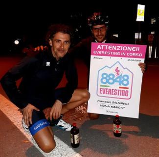 Francesco Saltarelli e Michele Mariotti nell'albo d'oro dell'Everesting