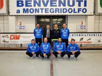 Bocce Serie A:CVM Utensiltecnica Montegridolfo-Boville Marino 1-1