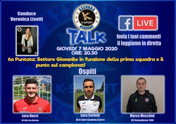 6° Puntata K Sport AC Azzurra, ospiti: Carletti, Meschini, Bocci