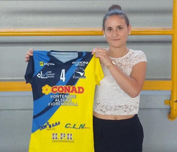 La Conad Alsenese, che presenta il secondo libero Erika Domeniconi, ultima arrivata in casa gialloblu