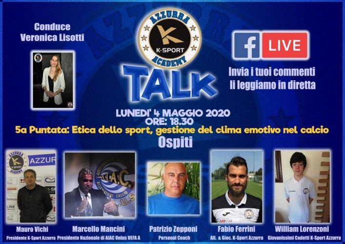 5° Puntata K Sport AC Az Talk, ospiti: Vichi, Mancini, Zepponi, Ferrini e Lorenzoni