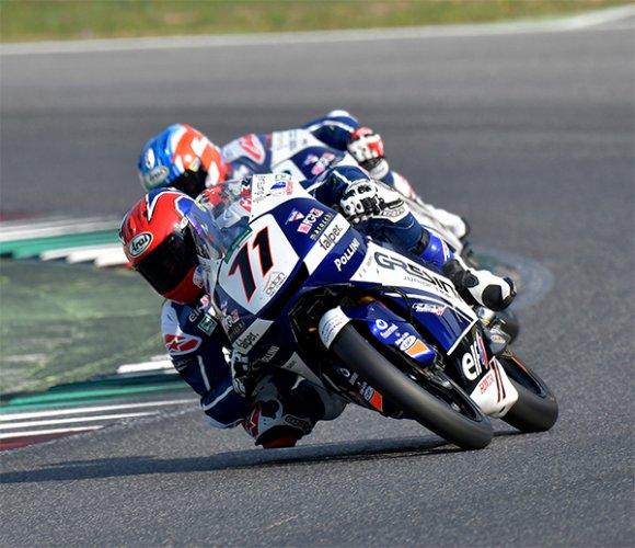 Gresini Junior Team: Mugello race1: Rossi podio, Spinelli quasi