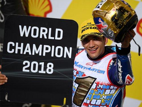 Jorge Martin si trasforma in #mart1nator: campione del mondo moto3 2018