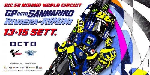 E' un omaggio a Valentino Rossi il poster ufficiale del Gran Premio Octo di San Marino e della Riviera di Rimini
