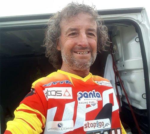 Bartolini in pista a Castel San Pietro Terme con la Yamaha da cross