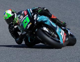Motogp: festa Yamaha in Spagna, prima fila Morbidelli e Rossi