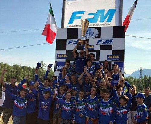 La Maglia Azzurra vince il Trofeo Giovanile Motocross Francia - Italia