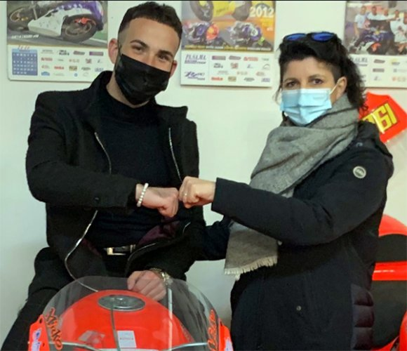 Il team Terra e Moto dà il benvenuto a Giuseppe De Gruttola per l'ELF CIV Supersport 300 2021