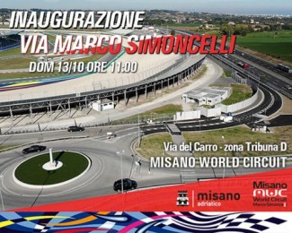 Domani a Misano adriatico l'inaugurazione di via Marco Simoncelli