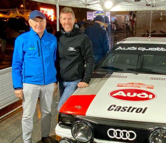 L'Audi di Zivian al Rally Legend di San Marino