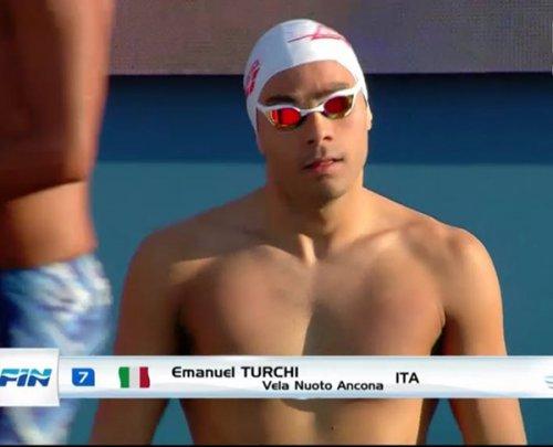 Ancora un grande Emanuel Turchi al Settecolli, quinto con record regionale nei 200 dorso