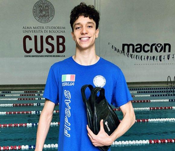 Davide Campagnoli (CUS Bologna) convocato dalla nazionale italiana di nuoto pinnato.