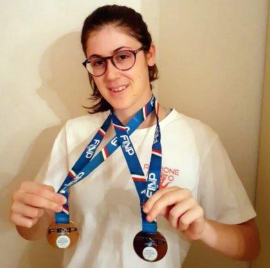 Doppia medaglia per Virginia Cremonini ai Campionati Giovanili di Nuoto Paralimpico FINP