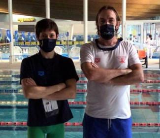 Marco Lijoi (Nuoto FINP Polisportiva Riccione) è medaglia d'oro nei 100 rana e argento nei 50 stile classe S12