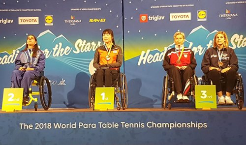 Giada Rossi medaglia di bronzo ai mondiali paralimpici di tennis tavolo di Celje