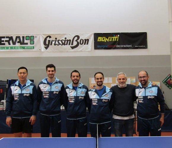 Tennistavolo A2 maschile, il Reggio Emilia Ferval dei piacentini concede il bis