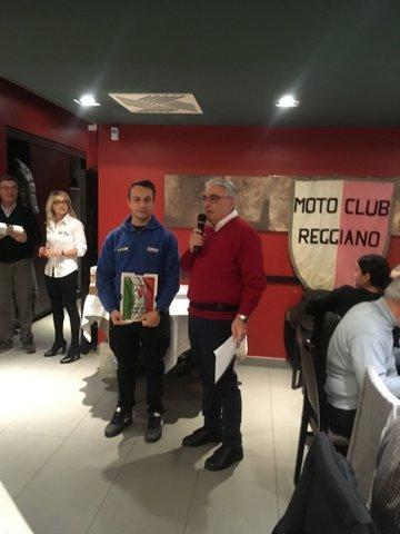 Premiati i piloti del Lucky Racing Team dal Motoclub Reggiano