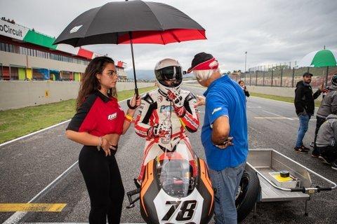 Andrea Raimondi con il Lucky Racing Team al CIV per l'ultimo round a Vallelunga