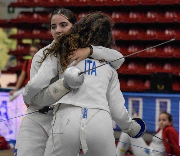 Grande prova di Cecilia Colombini, spadista del Pentamodena, al suo debutto nella categoria cadetti (under 17)