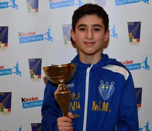 Scherma Cervia:oro per Francesco Delfino e 5° posto per Chiara Rossi nella prima prova nazionale di spada a Vercelli
