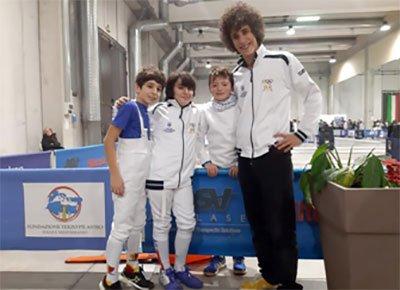 Scherma: Vercelli, prima prova nazionale della stagione per gli atleti U14 del Circolo Ravennate della Spada