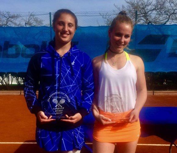 Isabella Tcherkes Zade conquista il titolo in doppio anche nel torneo itf junior tour di cap d'ail (grado 2) in Francia insieme con l'altra azzurrina Federica Rossi