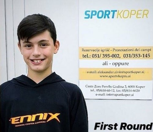 Fabio Leonardi raggiunge gli ottavi nel torneo Tennis Europe Under 12