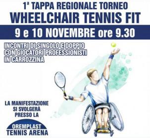Sabato 9 e domenica 10 novembre l'oremplast tennis arena di massa lombarda ospita la prima tappa regionale del torneo wheelchair.