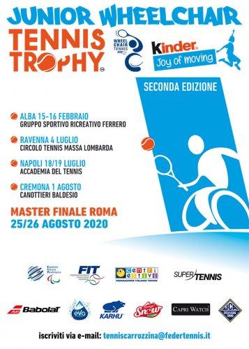 'Junior Wheelchair Tennis Trophy FIT Kinder Joy of Moving' riparte da Massa Lombarda