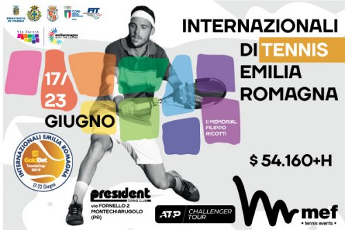 Internazionali di tennis Emilia Romagna  al Tennis Club President il nuovo ATP Challenger