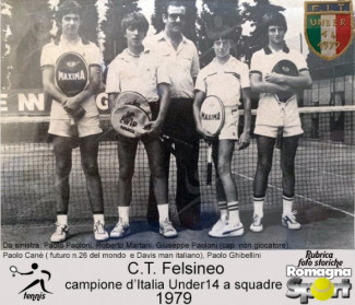 FOTO STORICHE - C.T. Felsineo campione d'Italia Under 14 a squadre 1979